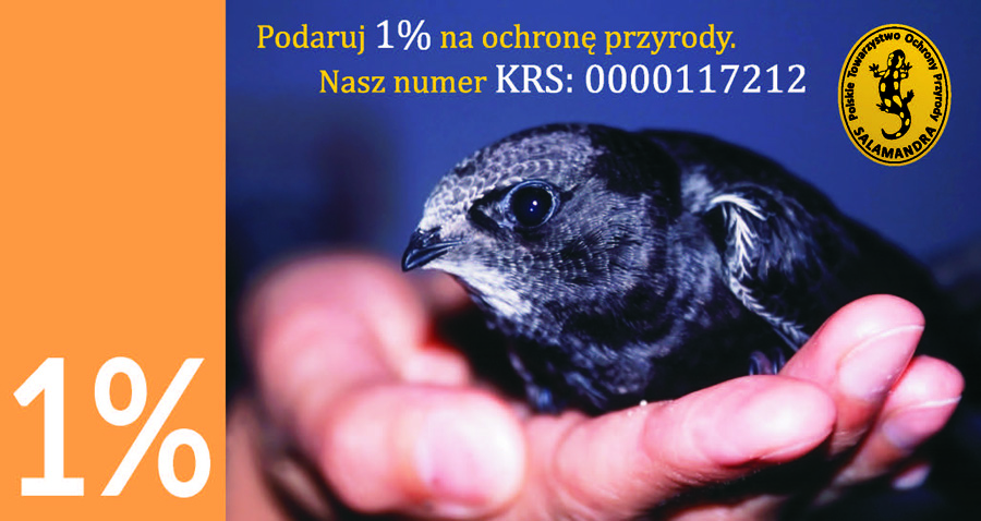 Podaruj 1% podatku na ochronę przyrody. KRS: 0000117212